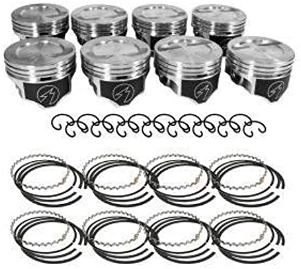 Amazon Com Chevy 383 Style Flat Top Pistons Moly Rings 4 030