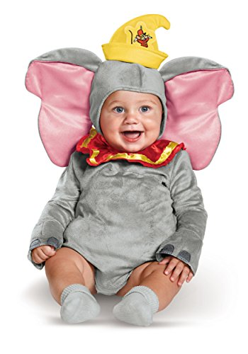 Disguise unisex baby Dumbo Infant Costume, Gray, 6-12 mths US