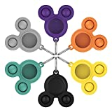 Anti-Scratch Protective Skin Cover for Airtags Portable Protector Soft Silicone Case for airtag Anti-Lost Keychain Push pop Toy Keys/Bags/Multicolor