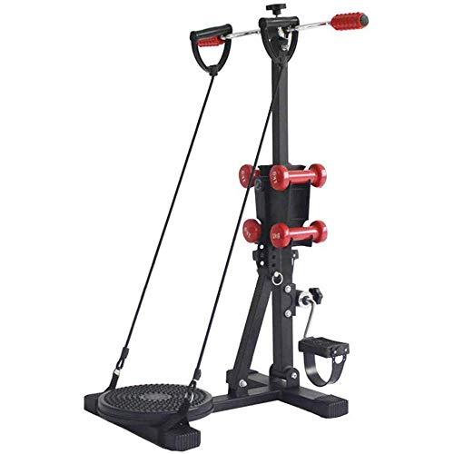 HXCD Bicicleta de Ejercicio Ajustable para rehabilitación de Ancianos y Entusiasta del Ejercicio Bicicleta de Ejercicio con Pedal con 4 Mancuernas y Placa Twister