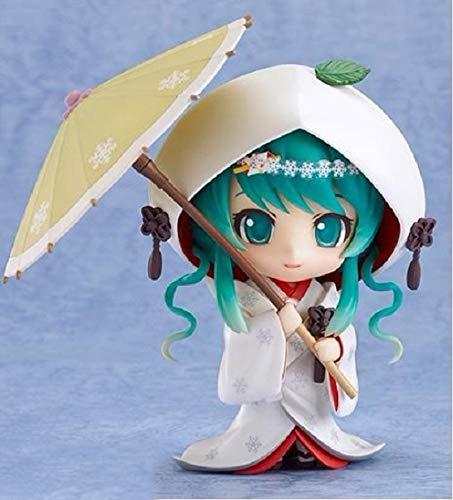 10cm Dropshipping Vocaloid Hatsune Miku 303# Snow Miku Strawberry White Kimono Ver PVC Model Anime Action Figure Brinquedos Doll