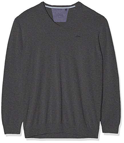 s.Oliver Big Size Herren 15.907.61.7008 Pullover, Grau (Charcoal 98w0), XXX-Large (Herstellergröße: 3XL)