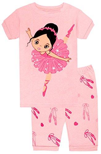 elowel | Pijamas Cortos | Ninas | 2 Piezas | Elegante, Comodo, Material Suave | 100% Algodon | Ajuste Apretado | Diseno múltiple y seleccion de Colores | Tamanos Disponibles:2-10 Anos