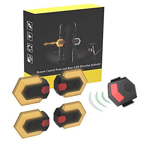 Haijun 1 Set Intelligente LED-Fahrrad-Rücklicht, Kabellose Fahrrad-Blinker, Vorderlicht, Rücklicht