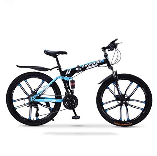 Chenbz Deportes al aire libre bicicletas de montaña bicicleta plegable, suspensión 30Speed doble freno de disco completo AntiSlip, campo a través de variables bicicletas de carreras de velocidad for