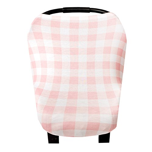 Baby Car Seat Cover Canopy and Nursing Cover Multi-Use Stretchy 5 in 1 Gift'The Harbor' by Copper Pearl