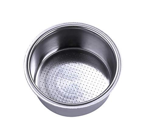 51mm Filter Basket Stainless Steel Portafilter Basket Espresso Handle Basket Compatible with Breville/Delonghi Espresso Maker,Double Cup Coffee Filter Basket Replacement