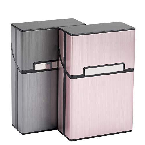 Caja de Cigarrillos Cigarette Case de Aleación de Aluminio Portatil Caja de...