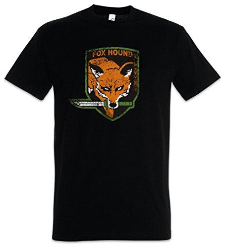 Urban Backwoods Foxhound Logo Herren T-Shirt Schwarz Größe XL