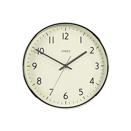 JONES CLOCKS®, Estudio, Reloj de Pared Diseño de Colores Modernos para Cocina Hogar Comedor Salón Oficina Números de fácil Lectura 30cm