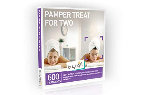 Buyagift Pamper Treat for Two Gift Experience Box - 600 beauty and relaxation experiences for two, at multiple UK locations