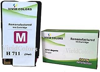 Vivid Colors Remanufactured H 711 Magenta CZ131A Inkjet Cartridge for HP Designjet T120 Printer