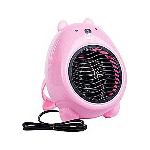 MIEMIE Mini Ventilador eléctrico de Dibujos Animados, Elemento Calefactor PTC, protección silenciosa contra sobrecalentamiento, Calentador de Escritorio para el hogar de la Oficina P