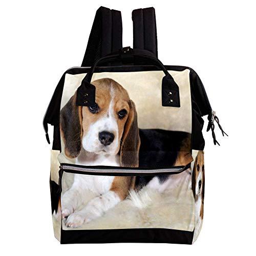 MUOOUM Wickeltasche, süße Katzen-Glocke, blau, Wickeltasche, Wickeltasche, Stillrucksack für Babypflege, multifunktional, Reißverschluss, lässige Reiserucksäcke