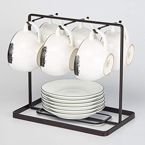 Porte-tasses à café en métal Tasse Porte-présentoir Accessoires de Cuisine Rangement Tasse à thé Organisateur Porte-Cintre 6 Crochets