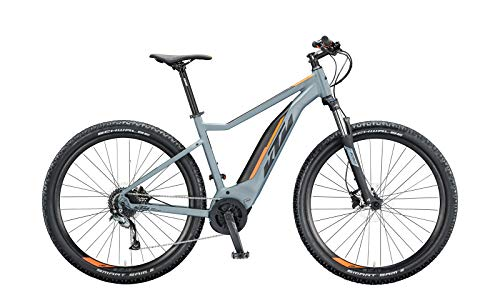 KTM Macina Ride 291 Bosch Elektro Mountain Bike 2020 (M/48cm, Epicgrey Matt/Black/Orange)
