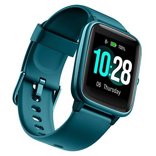 """Orologio Ulefone - 50 Giorni Durata Della Batteria, Smartwatch Impermeabile 5ATM, Schermo HD 1,3\"""", Cardiofrequenzimetro Fitness Tracker, Polso Contapassi Smartband Cronometro per iOS Android Blu"""