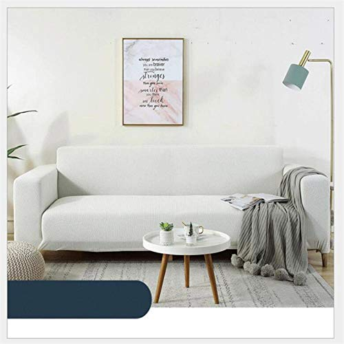 JIAYAN Funda de sofá Azul Funda elástica en L de algodón para Sala de Estar Fundas de sofá Cama universales Funda de sofá con Funda Angular 3 plazas-Blanco, 1 Plaza 90x140cm, Francia