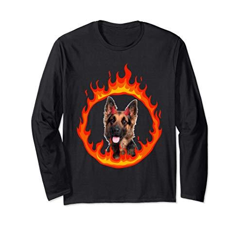 Devil Dog German Shepherd Manga Larga