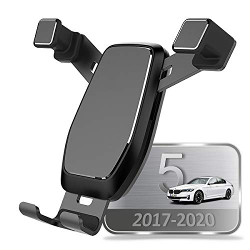 AYADA Soporte Móvil para BMW G30 G31 5er G32 6er F90 M5, Soporte Telefono Nueva Versión Gravedad Auto Lock Estable Fácil de Instalar SedanWagon 2017 2018 2019 2020 Accesorios