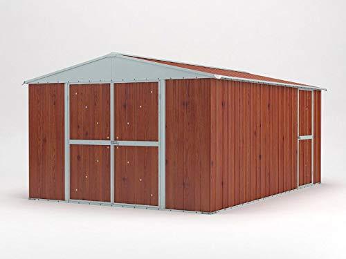 enaudi Casetta Box da Giardino in Lamiera Legno per Deposito Attrezzi 360x430x210cm