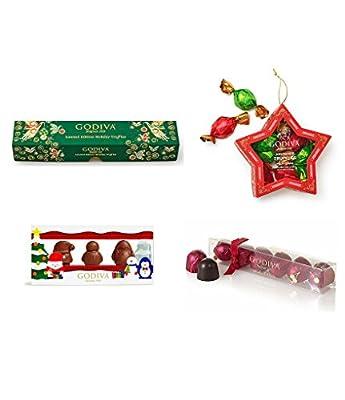 Godiva Chocolatier Winter Holiday Character Milk Chocolates Stocking Stuffer Gift Box