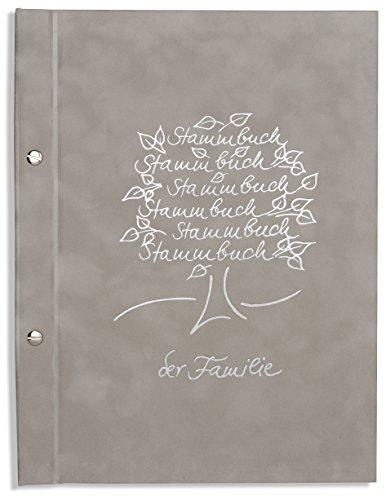 A4 Stammbuch Stammbuch der Familie grau Sanri incl. 11 Stammbuchhüllen