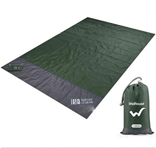 Fleurapance Picknickdecke für den Außenbereich, Parkdecke, Strandmatte für Camping, 140 x 200 cm, Picknick-Matten, Outdoor-Zelte, Rasenmatten mit 4 Bodennägeln