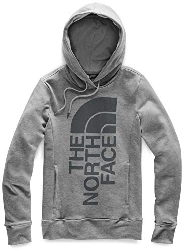 The North Face Women's Trivert Patch Pullover Hoodie, TNF Medium Grey Heather/Asphalt Grey, M