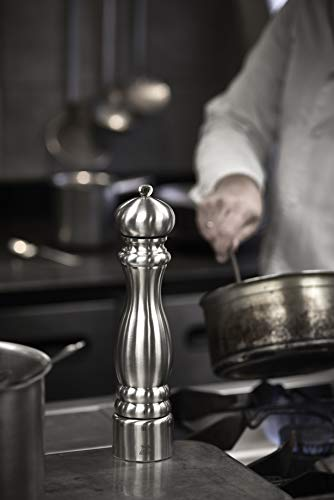 "Peugeot 32470 Paris Chef u'Select Stainless Steel 18cm - 7"" Pepper Mill"