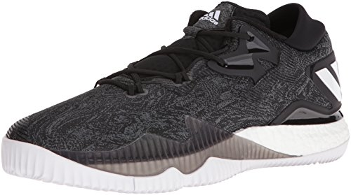 adidas Men's Shoes | Crazylight Boost Low Basketball, Black/White/Black, (11 M US)