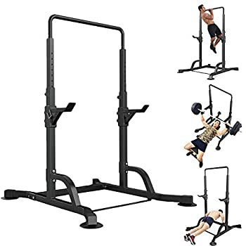Qazqa Pull-up Chin Up Bar Power Tower Free Standing Dip Station Multifunctional Horizontal Bar Weight Reduction Frame Bench Press Squat Rack Home Gym Fitness Exercise Strenth Training Equipment