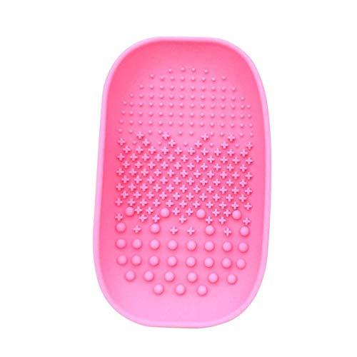 Maquillage Brosse De Nettoyage Tapis Cosmétique Brosse Silicone Cleaner Pad Portable De Nettoyage Pad Portable Lavage Outil Laveur-Rose