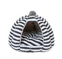 スーパーウォームキャットケーブウィンターウォーム子犬スリーピングベッドクッションテント付き小型犬キャットハウス犬小屋チワワベッドパッド-Gray-L
