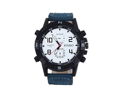 Miniblings Herren Damen Armbanduhr DAU HAU Uhr Zeit Kunstleder blau schwarz