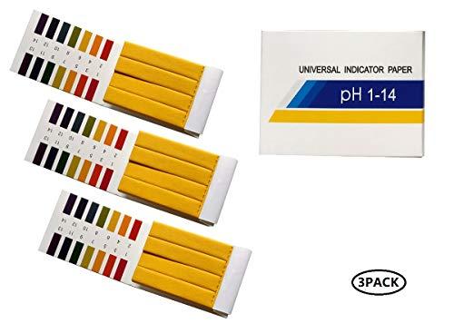 Fontee 240 Stück pH-Wert-Indikator-Teststreifen,1-14, Lackmuspapier - Ideal für die Prüfung vieler alltäglicher Substanzen, einschließlich befeuchtete Seife, Zitronensaft, flüssiges Waschmittel usw