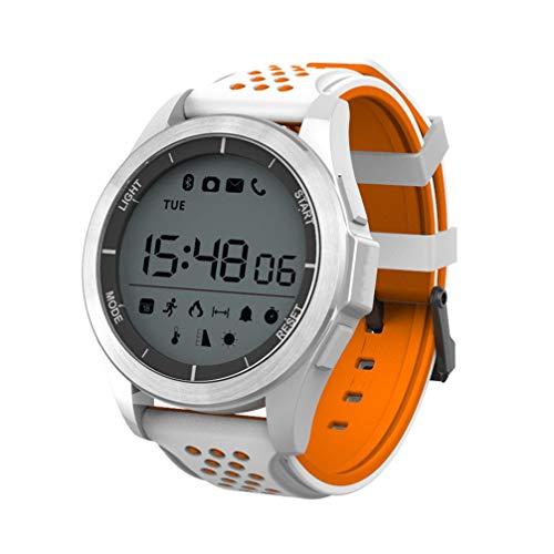 AUOKP Smart Watch Ip68 Wasserdichte F3 Smartwatch Outdoor Fitness Tracker Nachricht Anruf Erinnerung Tragbare Geräte Für Android Ios, Orange