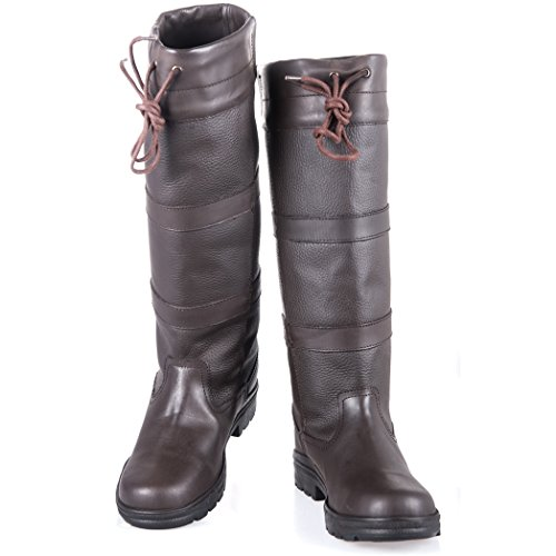 Lazura by HKM - Winter Damen Fashion Stiefel BELMOND Leder Dunkelbraun 40