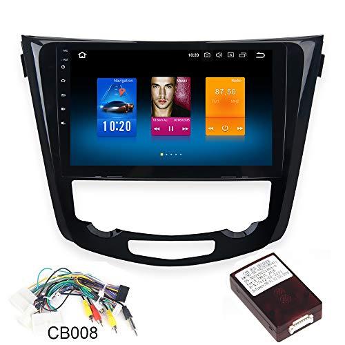 dasaita 10.2' Android 8.0 1 Din Autoradio Bluetooth Coche Manos Libres para Nissan X-Trail Qashqai j11 Rouge 2014 a 2018 Radio Coche Pantalla Tactil Apoyo WiFi DAB+ GPS Carplay Cámaras de Marcha Atrás