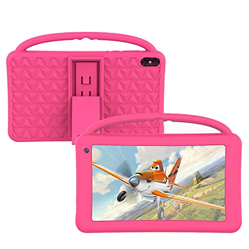 Kids Tablets 7 Inch IPS HD Display QuadCore Android 10.0 Pie Tablet PC for Kids GMS Certificated 2GB RAM 32GB ROM WIFI with Handheld Portable Kids-Proof Silicon Case for Kids Birthday Gift (pink)