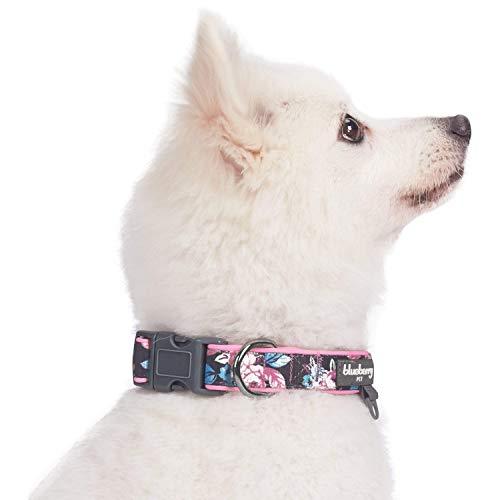 Blueberry Pet 1,5cm S Klein Frühlingsgru? Rosig Bedruckt Niedliches Neopren-Gepolstertes Hundehalsband - 3