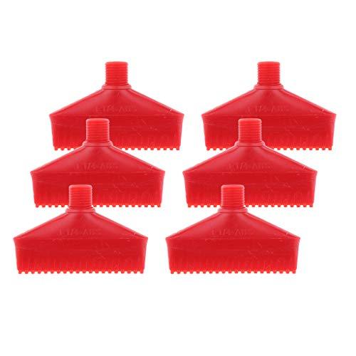 NC Paquete de 6 Boquillas de Pulverización de Arandela de Chorro de Soplador de Aire de Plástico ABS 1/4 Rojo 70 Mm