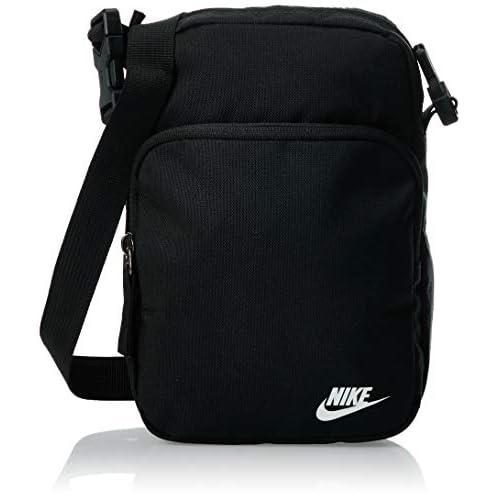NILCO|#Nike Heritage Smit - 2.0 Zaino Zaino Unisex, Unisex – Adulto, Black/Black/White, One size