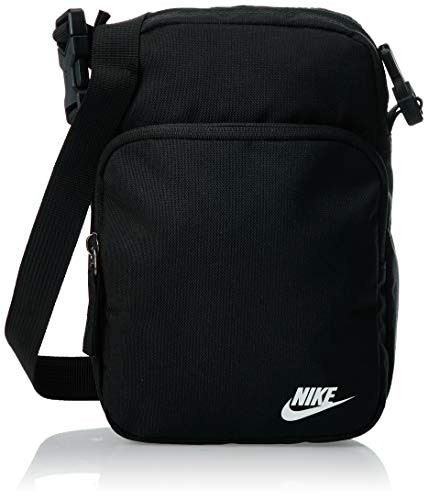 Nike Unisex-Adult Nk Heritage Smit - 2.0 Carry-On Luggage, Black/Black/White, One Size