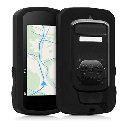 kwmobile Carcasa GPS Compatible con Bryton Rider 750 - Funda de Silicona para navegdor de Bici - Negro