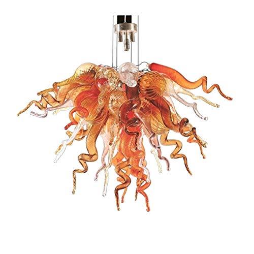 W.Z.H.H.H Lámpara Colgante De Techo Moderna lámpara de soplado a Mano de Cristal de la lámpara LED de Arte Cuerpo de iluminación Candelabro