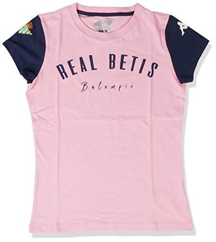 Kappa Aihem Betis Camiseta, Mujer, Rosa/Azul Marino, L