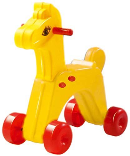 Dohany - Caballo tobogán infantil amarillo +18M