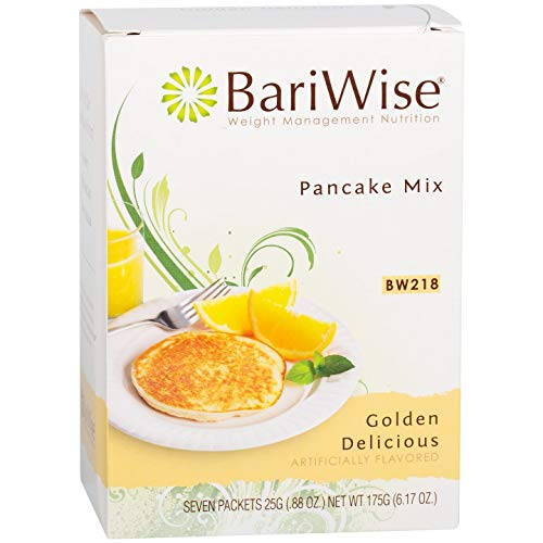 BariWise High Protein Pancake Mix/Low-Carb Diet Pancakes - Golden Delicious (7 Servings/Box) - Low Carb, Low Fat, Low Calorie, Aspartame Free