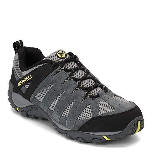 Merrell Men's Accentor 2 Ventilator Waterproof Hiking Boots, Black/Gray/Yellow, Size 11 M US
